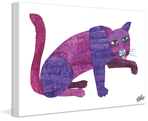 Eric Carle 'Purple Cat' Painting Print on Wrapped Canvas, 30