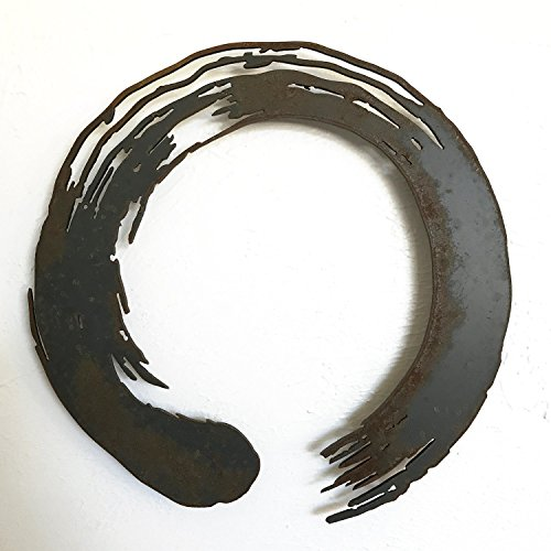 17x17 or 24x24 or 30x30 inch - Zen - metal wall art - Handmade - Choose your patina color ()