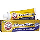Arm & Hammer Advanced White Toothpaste, Dental Baking Soda & Peroxide, 4.3-Ounce Tubes, Packaging May Vary
