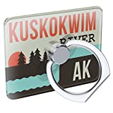 Cell Phone Ring Holder USA Rivers Kuskokwim River - Alaska Collapsible Grip & Stand Neonblond