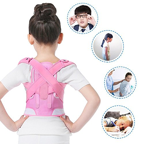 Posture Correctors, Back Shoulder Lumbar Waist Supporting Belt Bone Injury Correction Straighten Upper Back Slouching Corrective Prvent Children Humpback (M)