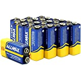 AllMAX All-powerful Alkaline Batteries-9 Volt (12-Pack), Ultra Long Lasting, Leakproof, 9V Cell