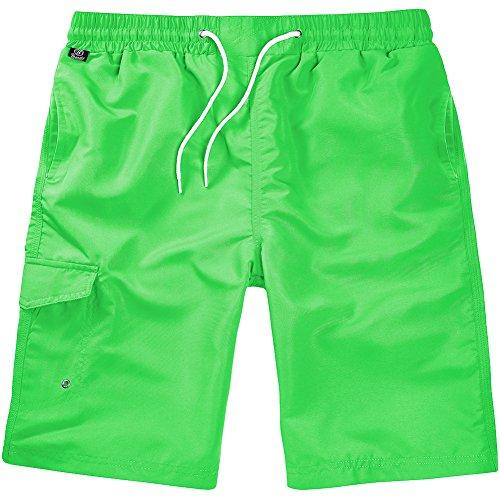 Brandit Hommes Shorts de Bain Lime