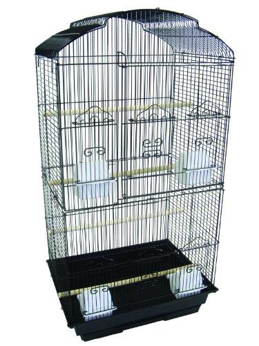 YML 3/8-Inch Bar Spacing Tall Shell Top Bird Cage, 18-Inch b