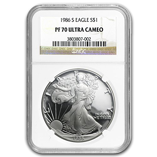 1986 S Proof Silver American Eagle PF-70 NGC (Registry Set) PF-70