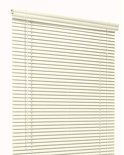 CHICOLOGY Custom Made Corded 1-Inch Aluminum Mini Blind, Blackout Horizontal Slats, Inside Mount, Room Darkening Perfect for Kitchen-Bedroom-Living Room-Office and More – 50″W X 42″H, Light Alabaster