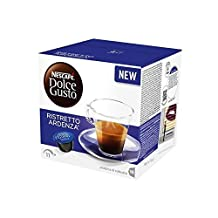 Nescafe DOLCE GUSTO Pods / Capsules - RISTRETTO ARDENZA Coffee = 16 pods (pack of 3 = Total: 48 pods)