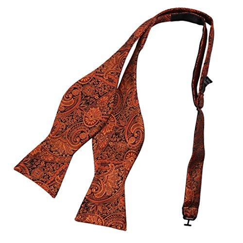 Epoint EBA2B01B Orange Patterns Silk Self-tied Bow Tie Warmth Shopstyle Bow Tie Business Men