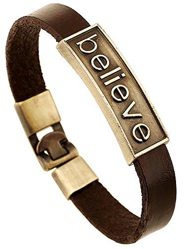 Cross Leather Wristband - 3