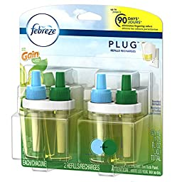 Febreze PLUG Air Freshener Refills with Gain Original (2 Count, 1.75 oz)