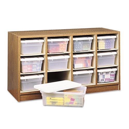(Safco 9452MO Modular Wood/Plastic 12 Bin Supplies Organizer 34 x 13 x 19 Medium)