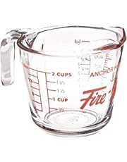 Anchor Hocking 77896 Fire-King Measuring Cup, Glass, 2-Cup