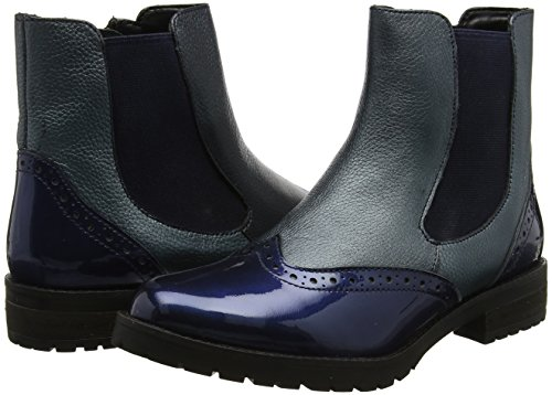 Nvy Shiny Boots Blau Damen Navy Lth Lotus Brianza Chelsea TZq0pYO