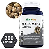 Best Black Maca Root 1600mg 200 Capsules (NON-GMO & Gluten Free) Max Strength – Maca Root Extract Supplement from Peru – Support Reproductive Health – 100% Money Back Guarantee – Order Risk Free! Review
