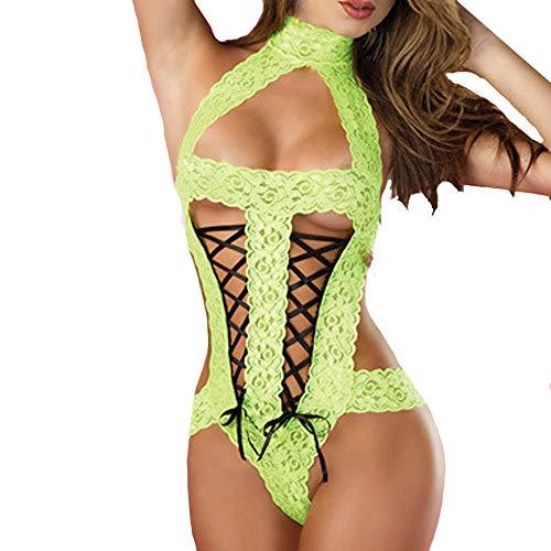 en Femmes Temptation Sexy Vert Suit vêtements ◕‿◕LianMengMVP Underwear Dentelle sous Spice qa1wBBI