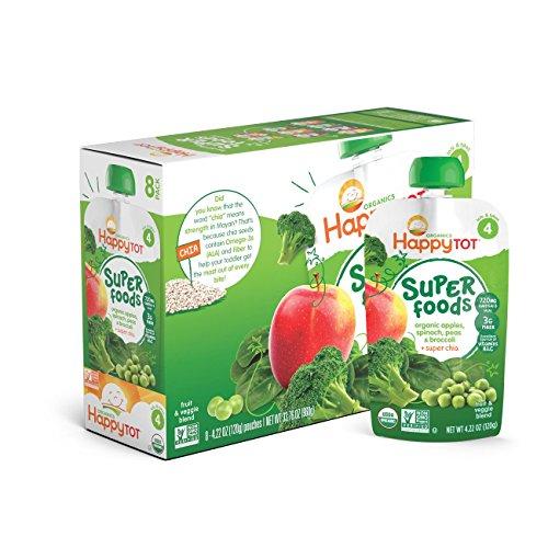 Happy Organic Apples Spinach Broccoli
