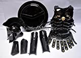 Medieval King Spartan 300 Movie Helmet +Muscle Jacket Best Black Costume