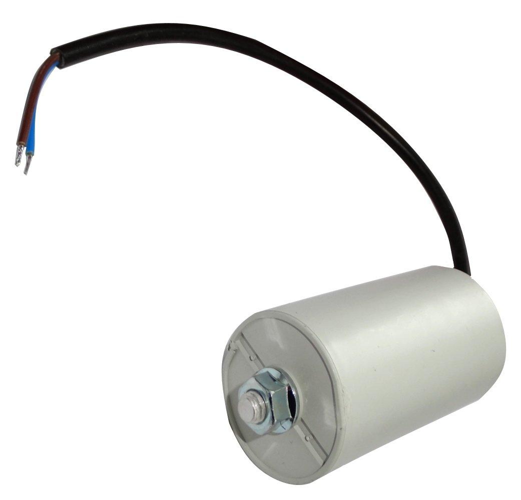 Aerzetix: Condensateur permanent de travail pour moteur 25µF 450V précâblé Ø45x78mm ±10% 10000h C18748 best