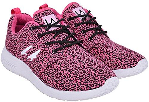 L. A. GEAR Sunrise PINK LEOPARD Sneaker / Turnschuhe - Pink Rockabilly