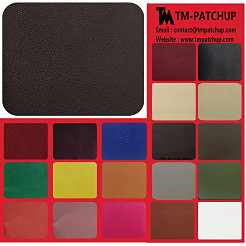 Leather and Vinyl Repair Patch by TMgroup, Genuine Leather Repair Patch, Peel and Stick for Couch, Sofas, car Seats, Hand Bags,Furniture, Large Size 3'' x 6' (Dark Brown, Quantity : 2) ()