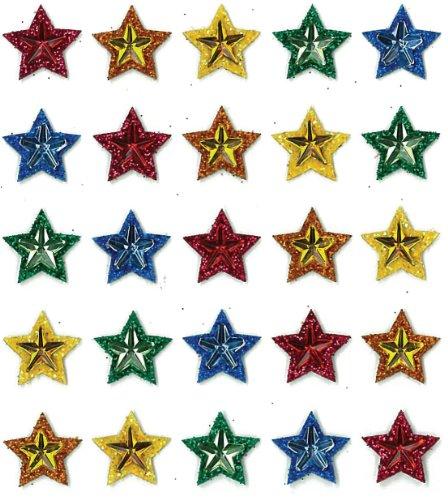 Jolee's Boutique Dimensional Repeat Stickers, Multi Stars