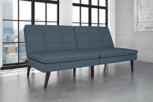 DHP Premium Westbury Linen Pillowtop Futon, (Manhattan Twin Bed)