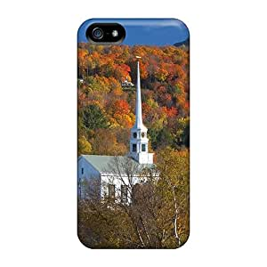 Brand New 5/5s Defender Cases For Iphone (church Of Stowe Vermont In Autumn)