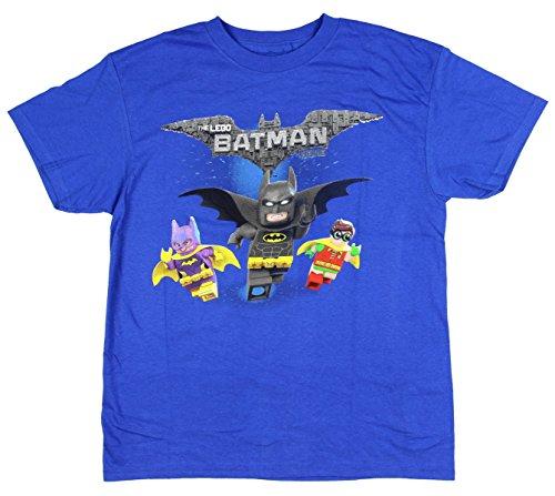 Isaac Morris Lego Batman Boys' Robin Batgirl Animated Cartoon Movie Character T-Shirt Medium