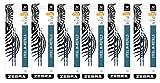 Zebra JK-Refll G301 Retractable Gel Pen Refills, 0.7mm, Medium Point, Black Ink, Pack of 12