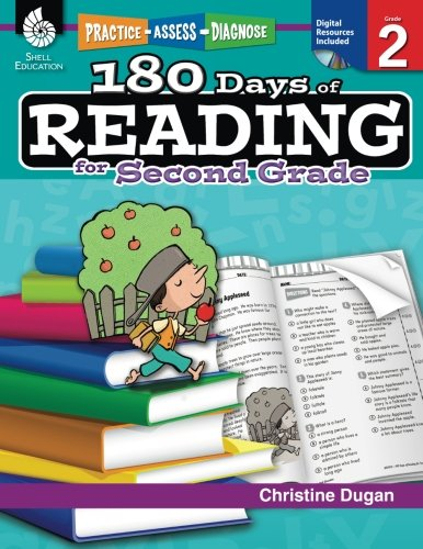 180 Days of Reading: Grade 2 - Daily Reading Workbook for Classroom and Home, Reading Comprehension and Phonics Practice, School Level Activities Created by Teachers to Master Challenging Concepts by Shell Education