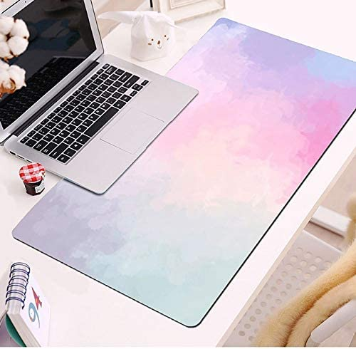 Color : 12, Size : 400 x 900mm SeSDY Game Mouse Pad Large Simple Water Color Non-Slip Rubber Base Computer Laptop Large Table Pad Keyboard Pad