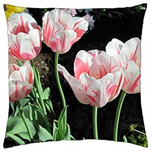 Contrast in Flowers 01 - Throw Pillow Cover Case (18