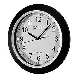 La Crosse Technology WT-3102B 10-Inch WWVB Self-set Analog Wall Clock and automatic DST reset
