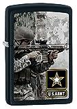 zippo gun - Zippo US Army Soldier and Gun Black Matte Pocket Lighter