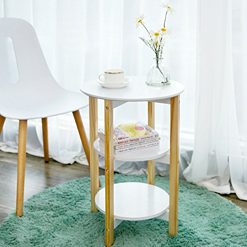 Indoor Multi-function Accent table Study Computer Desk Bedroom Living Room Modern Style End Table Sofa Side Table Coffee Table Three Round Face Table by DASII (Image #2)
