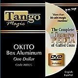 Okito Coin Box Aluminum One Dollar by Tango Magic