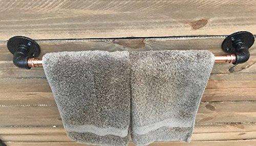 Piping Hot Art Works Copper Towel Bar - Copper Bathroom/Kitchen Accessories - Outdoor Towel Rack for Pool (18.0) by Piping Hot Art Works (Image #3)