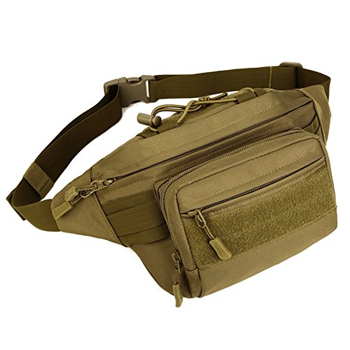 AMOMO Tactical Fanny Pack Military Waist Bag Hip Belt Bag Pouch WR for Running Hiking Climbing