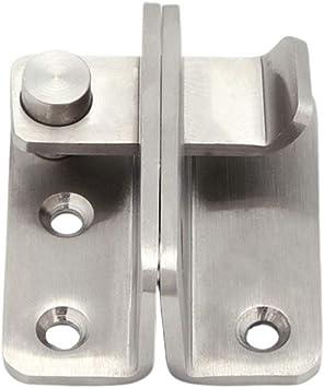 DOITOOL perno de pestillo de la puerta de acero inoxidable engrosar cerradura de la puerta cerradura de puerta corredera tamaño l: Amazon.es: Bricolaje y herramientas