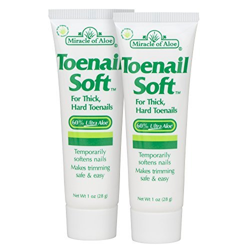 2-Pack Miracle Toenail Soft 1 Oz - Temporary Nail Softening Cream with 60% Ultra ()
