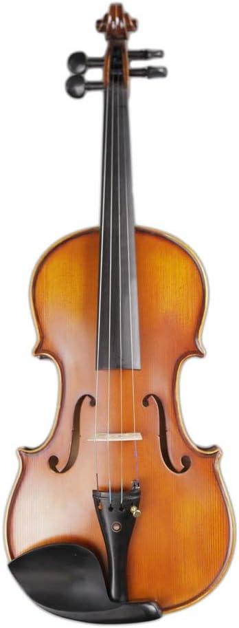 ACHKL Matt pattern handmade violin bow brazilwood ebony fittings ACHKL Color : Brown-3//4