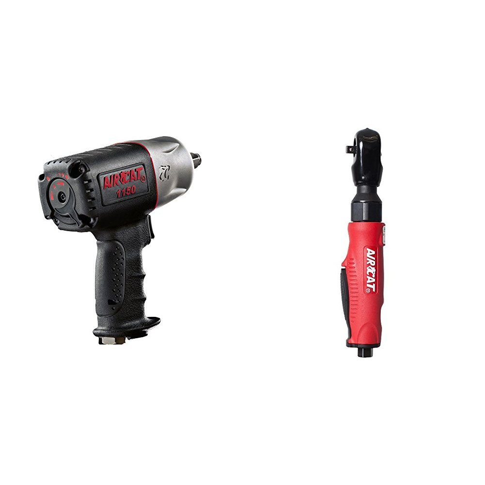 AIRCAT 1150 Killer Torque 1//2-Inch Impact Wrench with TEKTON 4957 Impact Adapter and Extension Bar Set Reducer