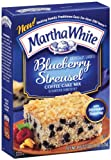 Martha White Blueberry Streusel Coffee Cake Mix, 18.5-Ounce Boxes (Pack of 6)