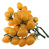 Gresorth 2 Pack (32 PCS) Ornament Artificial Yellow Cherry Tomatoes Faux Fake Cherries Home Kitchen Christmas Decorative
