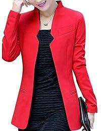 Aro Lora Women's Long Sleeve Junior Casual Work Office Blazer Jacket Suit