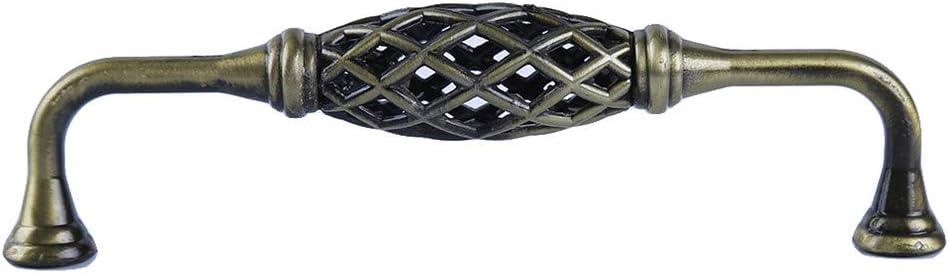Ellepigy Cage /À Oiseaux Vintage Bronze Noir Armoire Armoire Ronde Poign/ées Penderie Tiroir Penderie Porte Fer Poign/ées Style 2