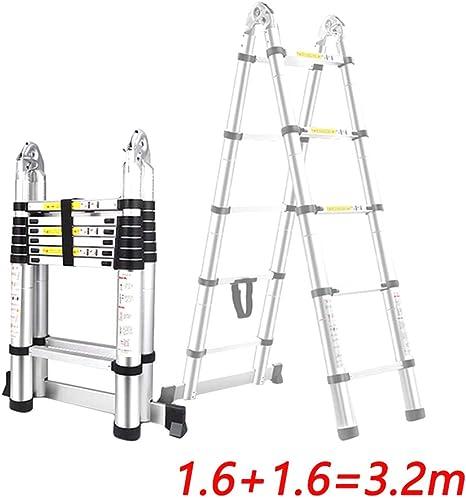 BAIVIT Aleación de Aluminio Escalera Telescópica Conector de Extensión Escalera Plegable Profesional Antideslizante Multiuso Hogar Comercial Escalera Portátil,3.2m: Amazon.es: Deportes y aire libre