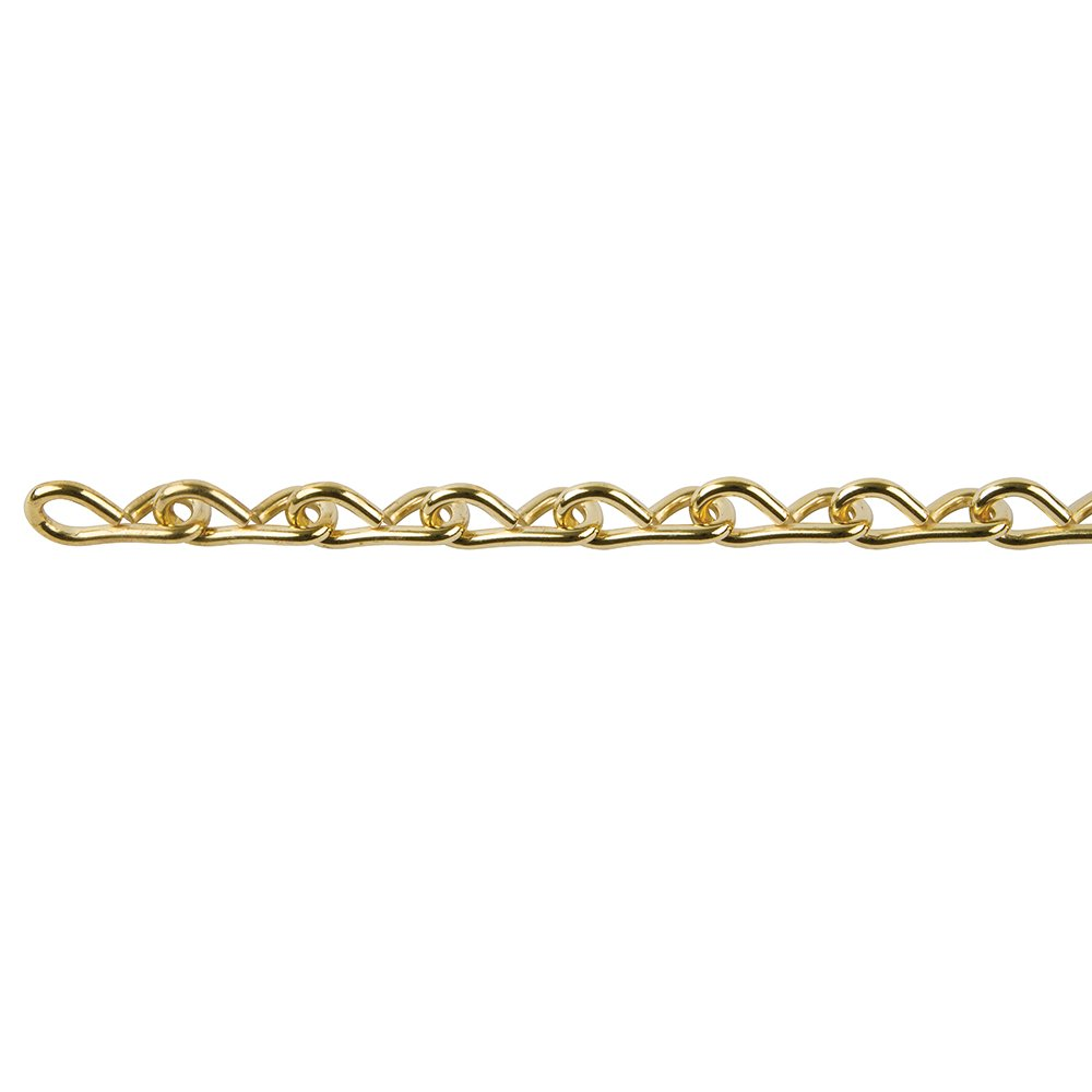 Perfection Chain Products 54515#18 Single Jack Chain, Brass Clean, 10 FT Carton