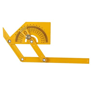 Delaman Angle Finder Multi-Angle Goniometer Miter Gauge Arm Measuring Ruler Plastic Protractor Template Tool
