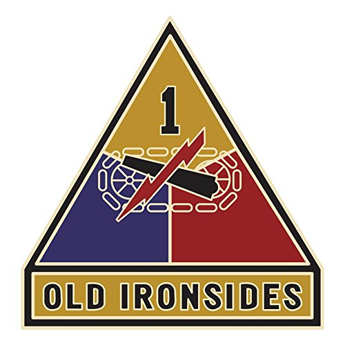 Army 1st Armored Division Veteran Unit Sticker